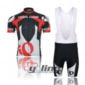 2012 Pearl Izumi Cycling Jersey And Bib Shorts Kit Black And Red