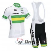2013 Jayco Australia Cycling Jersey And Bib Shorts Kit White And