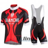 2016 Bianchi Cycling Jersey And Bib Shorts Kit Black And Red