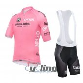 2016 Giro d'Italia Cycling Jersey And Bib Shorts Kit Pink