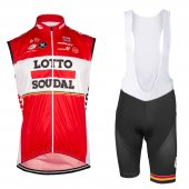 2017 Lotto Soudal Wind Vest red