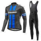 2016 Giant Long Sleeve Cycling Jersey And Bib Pants Kit Black An
