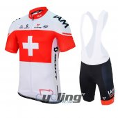 2017 IAM Cycling Jersey And Bib Shorts Kit Red And White