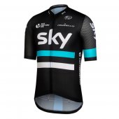 2016 Sky Cycling Jersey And Bib Shorts Kit Black And Blue