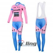 2015 Women Saxo Bank Long Sleeve Cycling Jersey And Bib Pants Ki