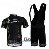 2010 Cannondale Garmin Cycling Jersey And Bib Shorts Kit Black