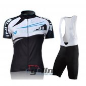 2011 Women Nalini Cycling Jersey And Bib Shorts Kit White And Bl