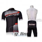 2012 Northwave Cycling Jersey and Bib Shorts Kit Red Black