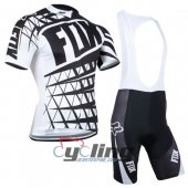 2014 Fox Cycling Jersey And Bib Shorts Kit Black And White