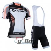 2014 Giant Cycling Jersey And Bib Shorts Kit Black And White