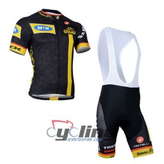 2014 Mtn Cycling Jersey And Bib Shorts Kit Black And Yellow