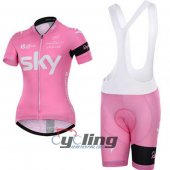 2015 Women Scott Cycling Jersey And Bib Shorts Kit Pink