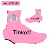 2016 Saxo Bank Tinkoff Cycling Shoe Covers rose (2)