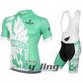2016 Bianchi Cycling Jersey And Bib Shorts Kit White And Green1