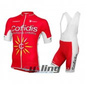2016 Cofidis Cycling Jersey And Bib Shorts Kit Red And White