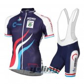 2016 Luxembourg Cycling Jersey And Bib Shorts Kit Blue And White