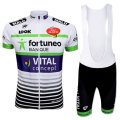2017 Fortuneo Vital Concept Cycling Jersey and Bib Shorts Kit white
