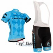 2016 Cannondale Garmin Cycling Jersey And Bib Shorts Kit Black And Blue