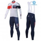 2016 IAM Long Sleeve Cycling Jersey And Bib Pants Kit White And