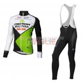 Multivan Merida Cycling Jersey Kit Long Sleeve 2016 green and white
