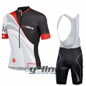 2014 Sidi Cycling Jersey And Bib Shorts Kit Black And White