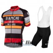 2016 Bianchi Cycling Jersey And Bib Shorts Kit Red And Orange