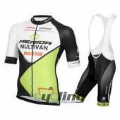 2016 Merida Cycling Jersey And Bib Shorts Kit White And Green