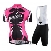 2016 Women Nalini Cycling Jersey And Bib Shorts Kit Pink And Bla