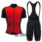2016 ALE Cycling Jersey And Bib Shorts Kit Red And Black