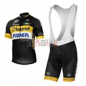 Telenet Fidea Lions Cycling Jersey Kit Short Sleeve 2017 black