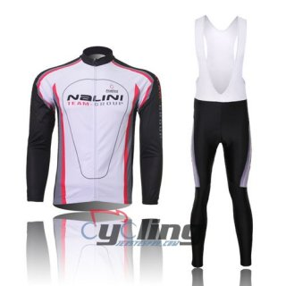2011 Nalini Long Sleeve Cycling Jersey And Bib Pants Kits White