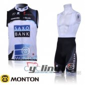 SaxoBank Wind Vest White And Blue 2015
