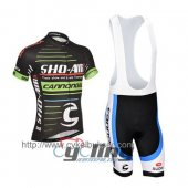 2014 Cannondale Garmin Cycling Jersey And Bib Shorts Kit Green And Black