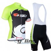 2014 Sidi Cycling Jersey And Bib Shorts Kit Black And Green