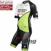 2015 Merida Cycling Jersey And Bib Shorts Kit Black And Green