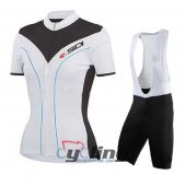 2015 Women Nalini Cycling Jersey And Bib Shorts Kit Black And Wh