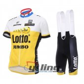 2016 Lotto Soudal Cycling Jersey And Bib Shorts Kit White And Ye
