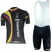 2017 Colombia Cycling Jersey and Bib Shorts Kit white
