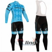 2016 Cannondale Garmin Long Sleeve Cycling Jersey And Bib Pants Kit Blue And Black
