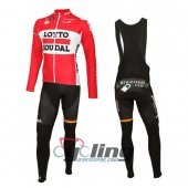 2016 Lotto Soudal Long Sleeve Cycling Jersey And Bib Pants Kits