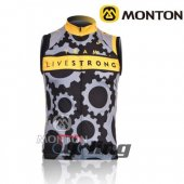 LiveStrong Wind Vest Black And Yellow 2010