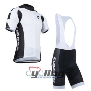 2014 Assos Cycling Jersey And Bib Shorts Kit Black And White