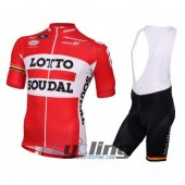 2016 Lotto Soudal Cycling Jersey And Bib Shorts Kit White And Re
