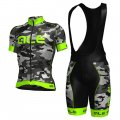 2017 ALE Cycling Jersey and Bib Shorts Kit camouflage and green