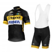 2017 Telenet Fidea Lions Cycling Jersey and Bib Shorts Kit black