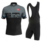 2016 Cinelli Cycling Jersey And Bib Shorts Kit Black And Grigio