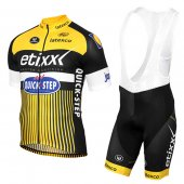 2016 Etixx Quick Step Cycling Jersey And Bib Shorts Kit Yellow And Black
