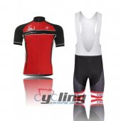 2010 Castelli Cycling Jersey And Bib Shorts Kit Black And Red