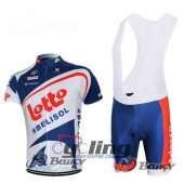 2014 Lotto Soudal Cycling Jersey And Bib Shorts Kit White And Bl