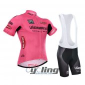 2015 Giro d'Italia Cycling Jersey And Bib Shorts Kit Red